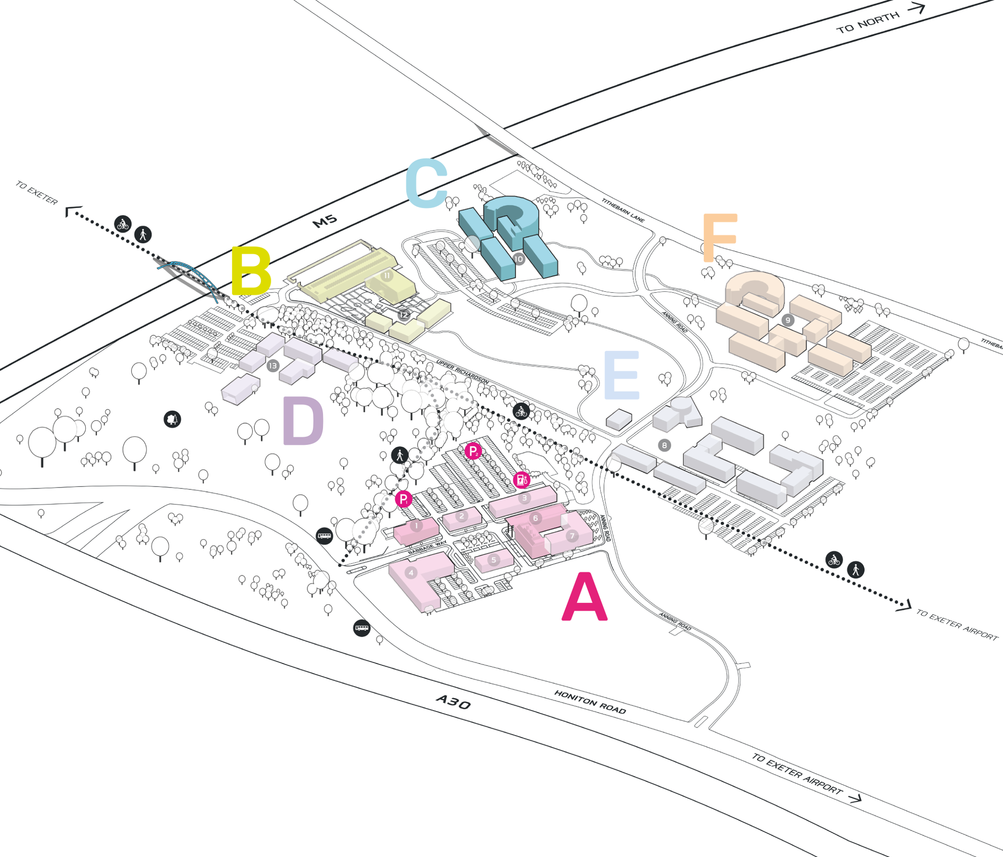 Park Plan highlighting cluster C
