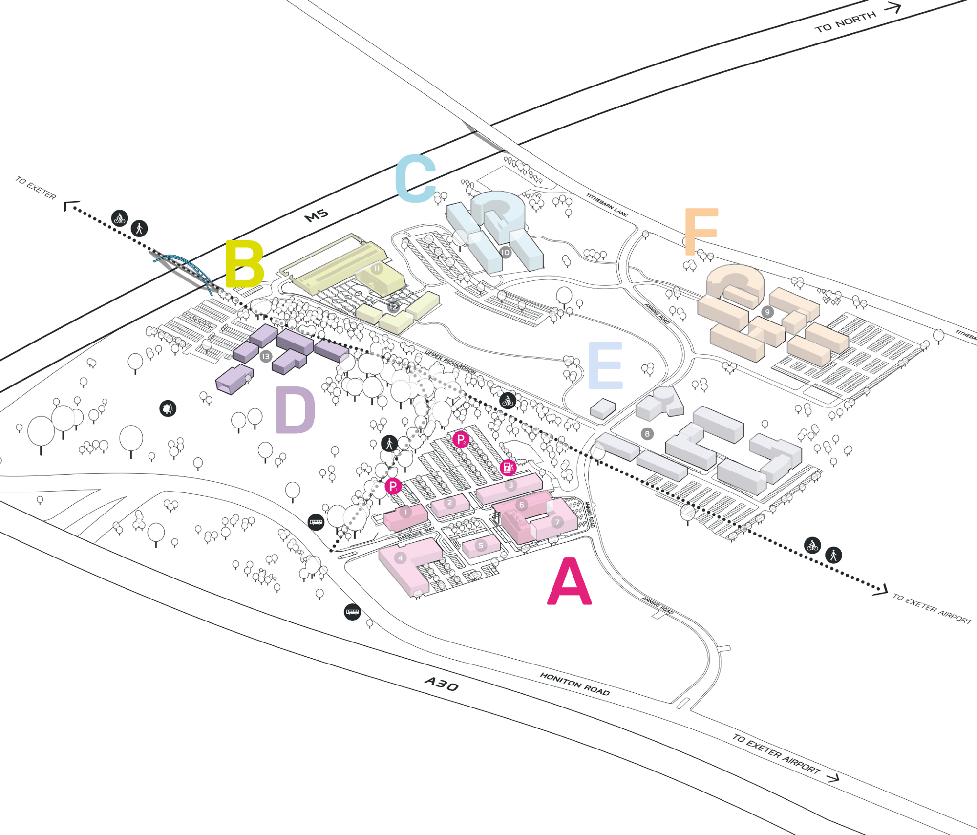 Park Plan highlighting cluster D