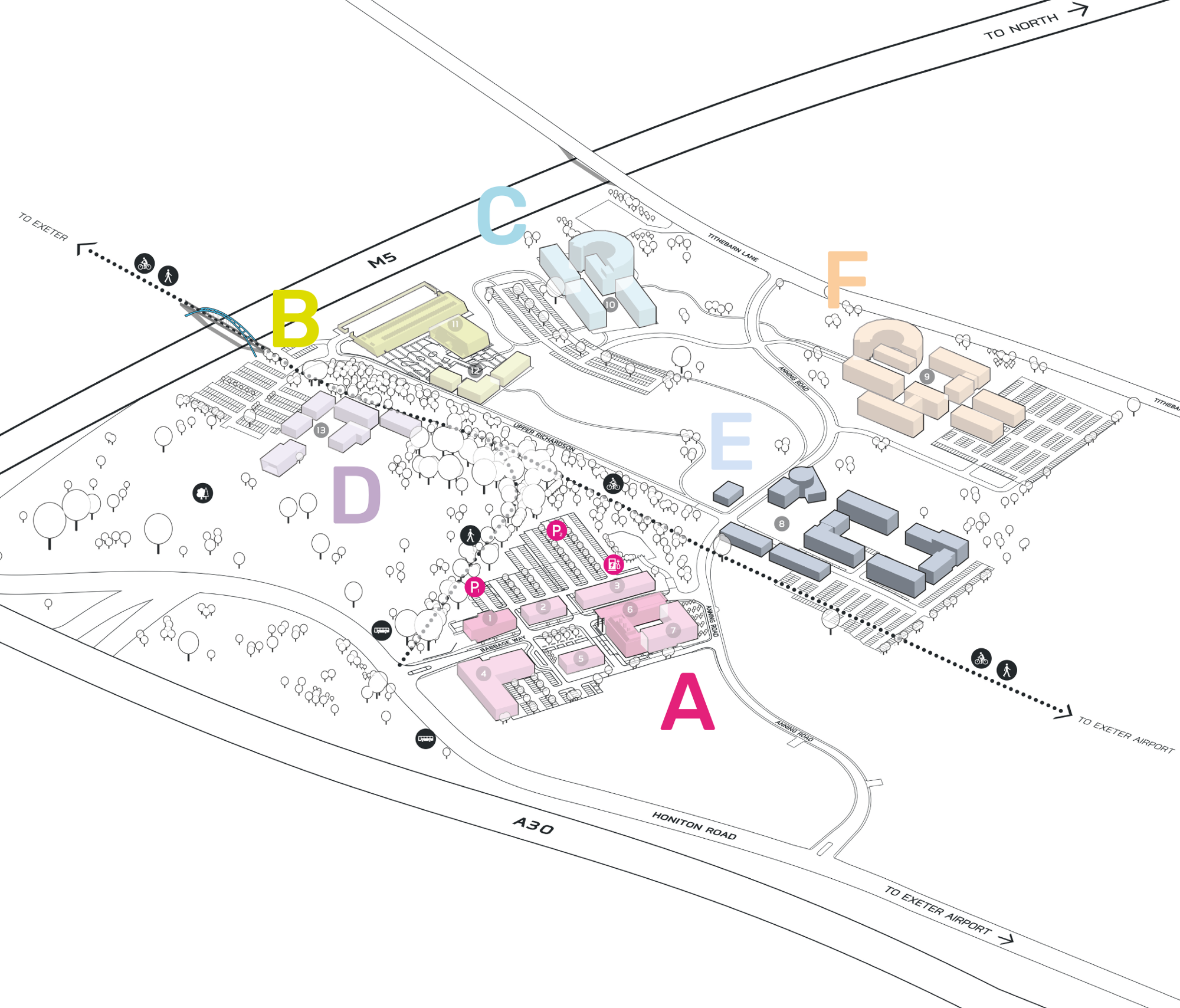 Park Plan highlighting cluster E